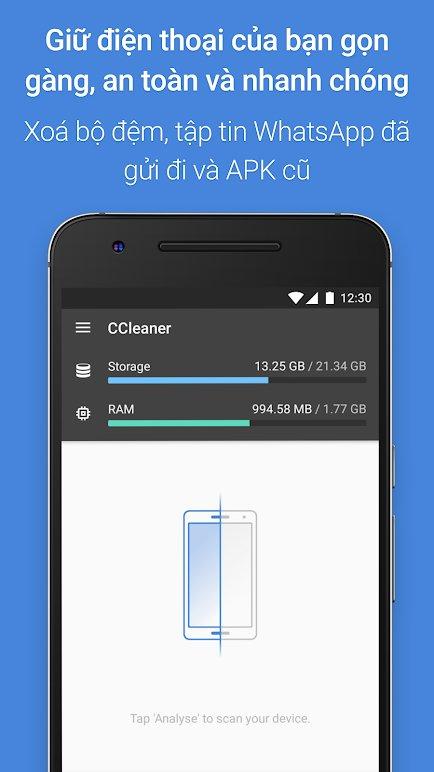 CCleaner ứng dụng dọn rác cho android miễn phí